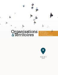 Organisations & Territoires - image de la couverture vol. 27 n. 3